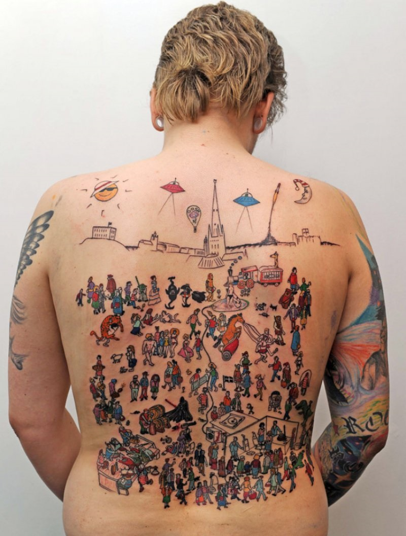 Where's Waldo Tattoo -12 Amazing 3D Puzzle Tattoos Ever