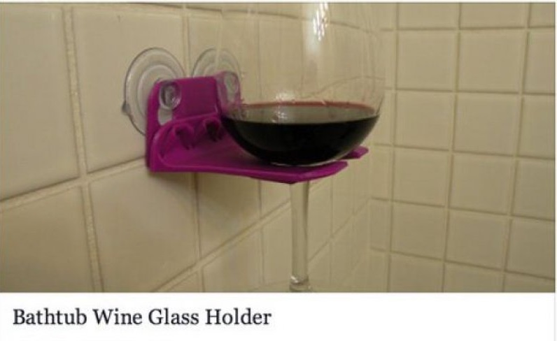 "Bathtub Wine Glass Holder-15 Amazing Photos That Will Make You Say ""What A Time To Be Alive."""