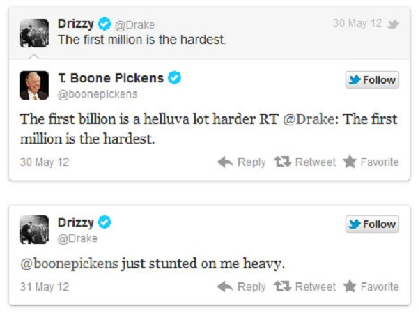 Drake vs. T. Booney Pickens-15 Hilarious Twitter Comebacks Ever