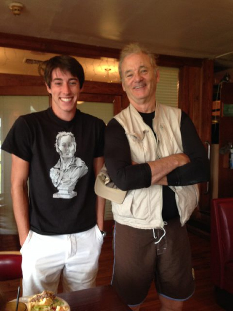 Bill Murray with His Fan-15 People Who Had The Perfect Shirt For The Moment