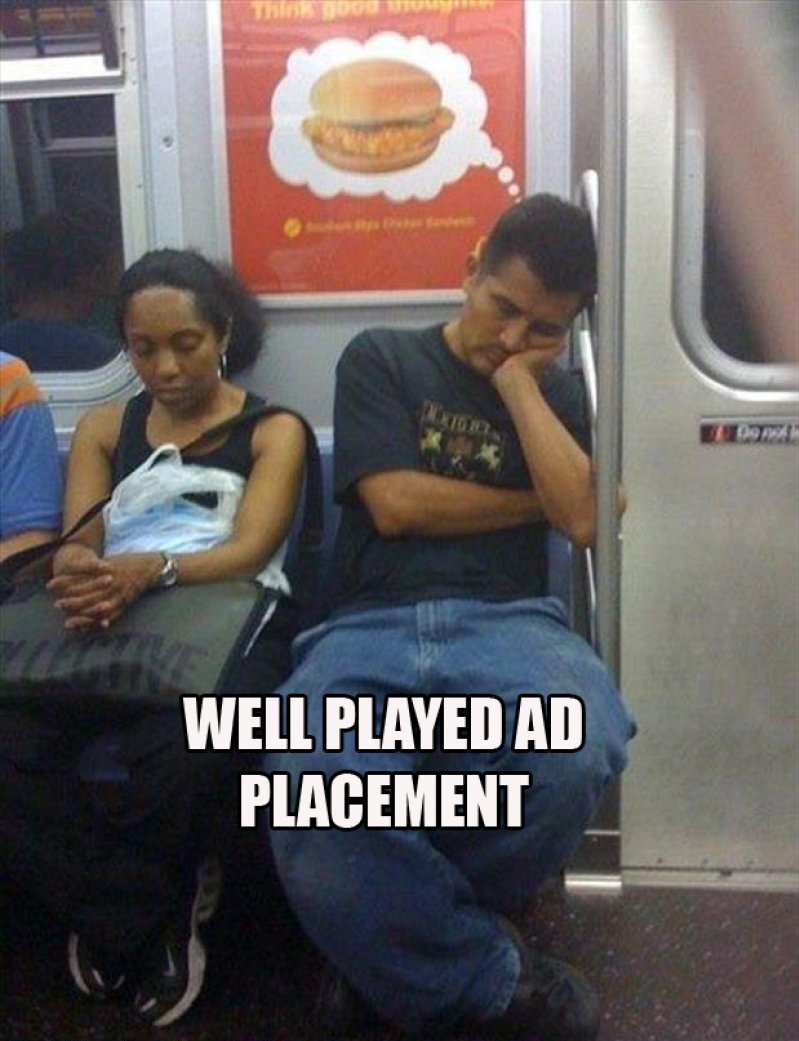 Great Ad Placement-15 Images That Make You Say 'Well Played Sir'.