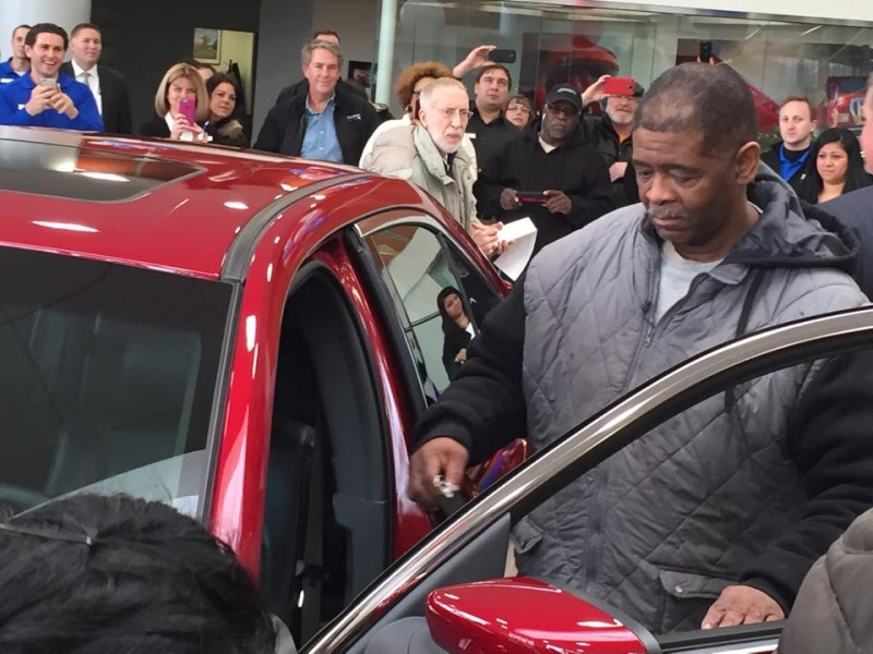 Walking Detroit Man-Man Who Walked 21 Miles To And Fro His Job For 10 Years Is Surprised With New Car