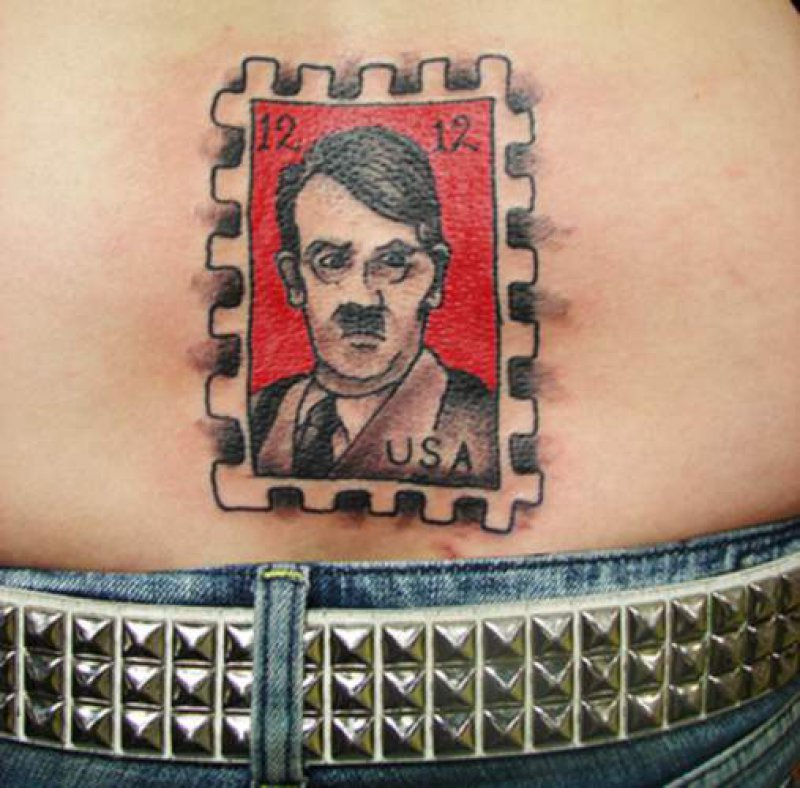 Hitler Tramp Stamp-15 Tramp Stamps That Will Make You Feel Disgusted