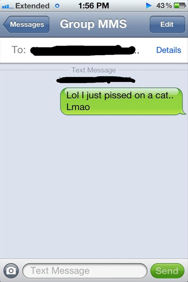 This Drunkard Who Pees on a cat-15 Funniest Drunk Texts That Will Make You Lol