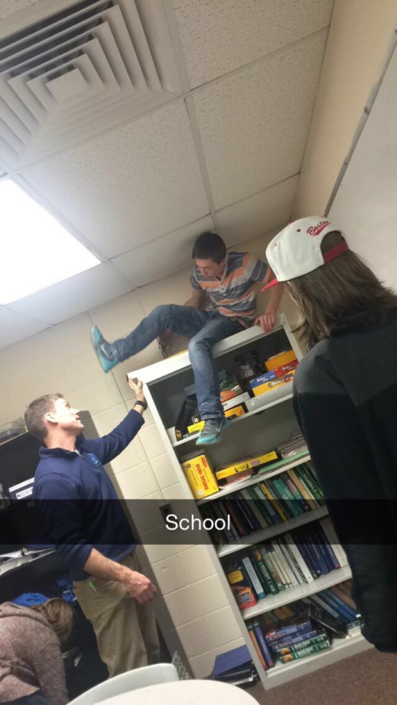 Get Down from There!-15 Teachers Who Are Tired Of Annoying Students