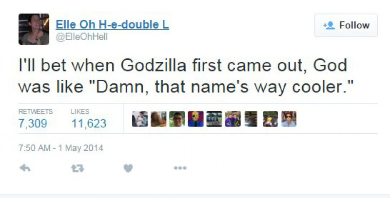 Godzilla Must be His Favorite Animal-15 Tweets About God That Will Make You Laugh