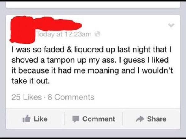Another Embarrassing Drunk Post-15 Hilarious Facebook Drunk Posts