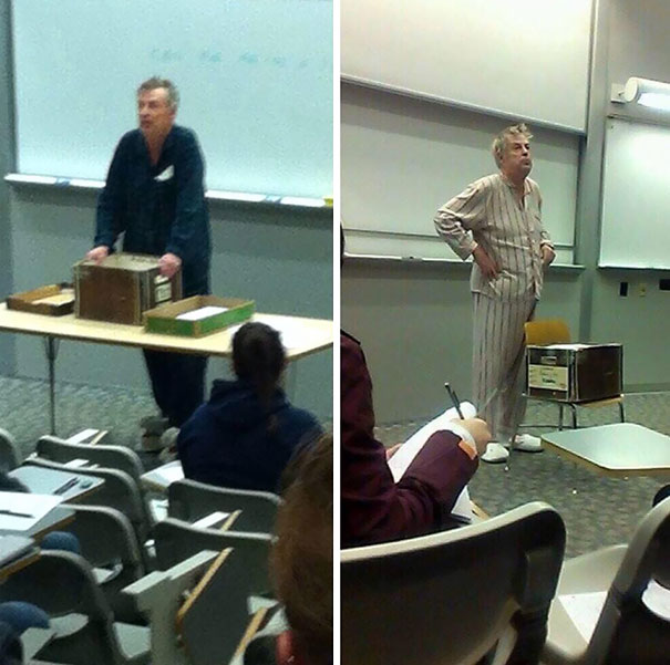 This Awesome Professor in Pajamas-15 Awesome Teachers Everyone Would Like To Have