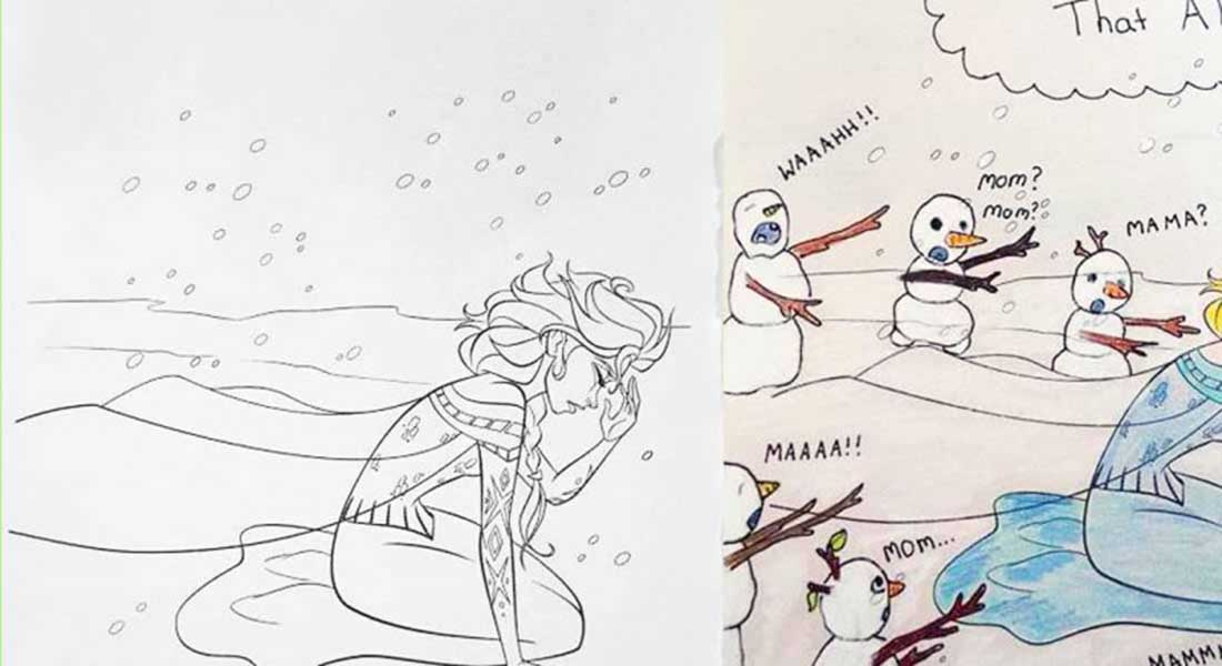 15 Drawings That Show Dads Should Stay Away From Children's Coloring Books
