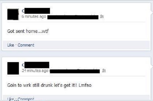 This Guy Who Thinks It's Okay to Go to Office While Drunk -15 Hilarious Facebook Drunk Posts