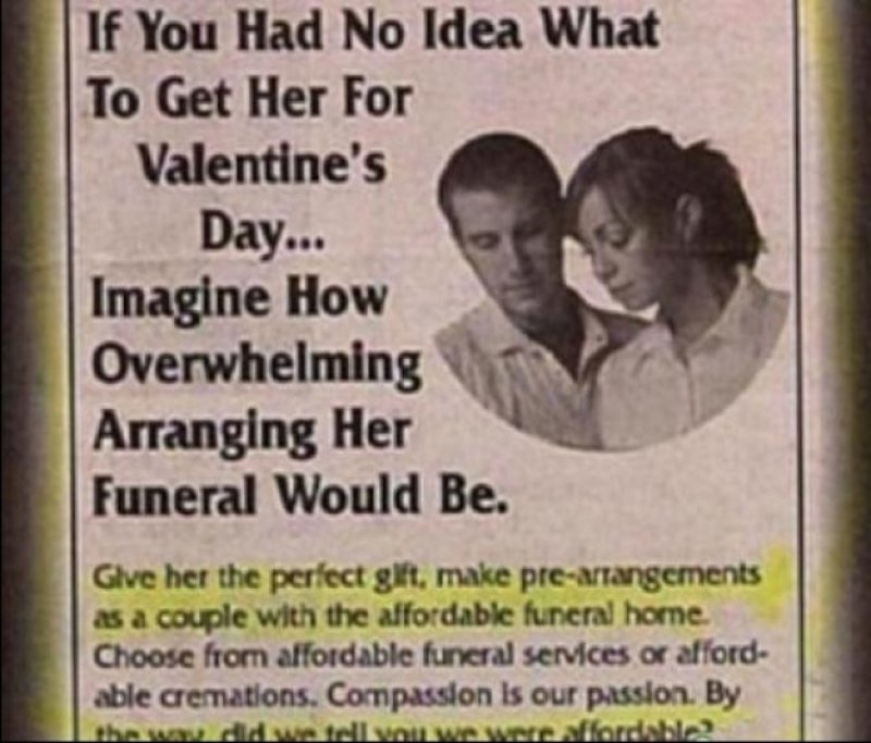 The Horrible Valentine's Day Gift Ever-15 Disgusting Valentine's Day Gifts Ever