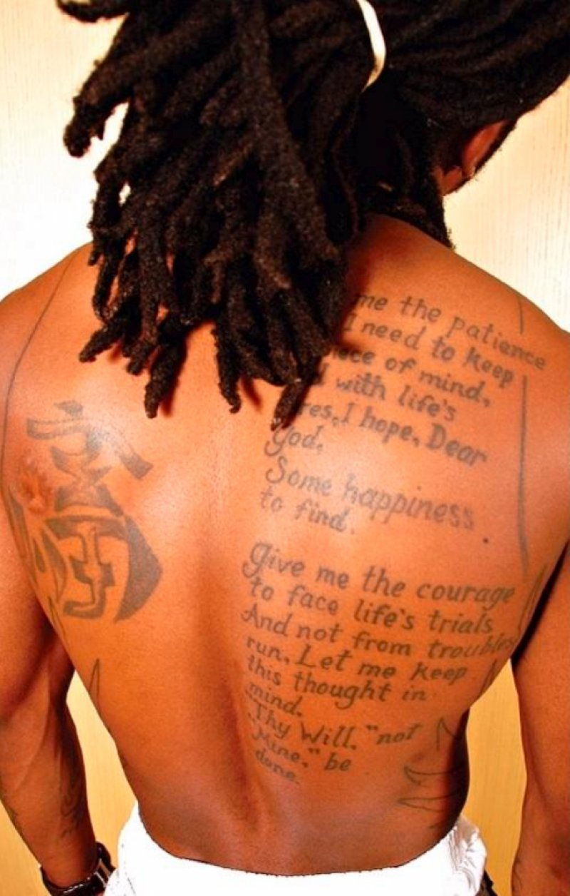 Bible Verse-15 Bizarre Lil Wayne's Tattoos And Their Meanings