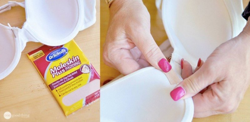 Use Moleskin Tape to Repair Poking Underwire-12 Bra Hacks You Probably Don't Know