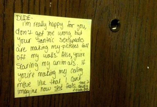 Is this a Complaint Letter or Letter of Interest?-15 Funniest Notes Ever Left For Neighbors Having Sex Very Loud