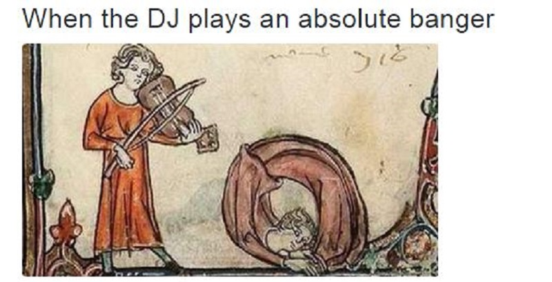 When the DJ Plays an Absolute Banger-15 Art History Reactions That Are Sure To Make You Laugh