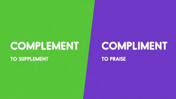 Complement vs. Compliment-15 Words That Sound Similar But Have Different Meaning