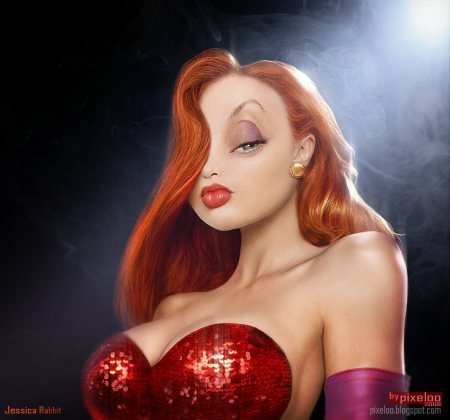Real Jessica-rabbit-Realistic Drawings Of Cartoon Characters