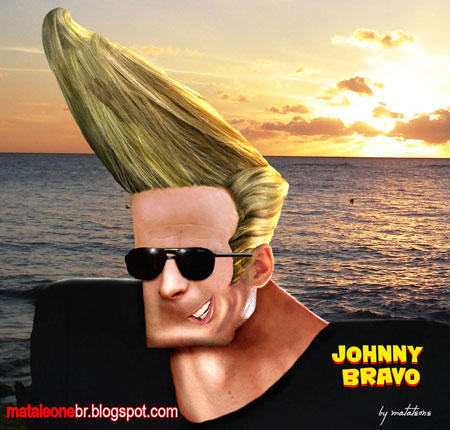 Johnny-bravo-Realistic Drawings Of Cartoon Characters