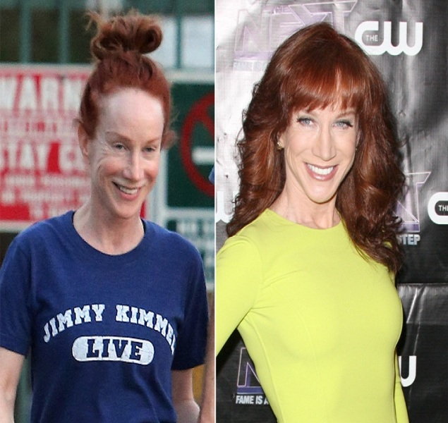 Kathy Griffin-15 Celebrities With And Without Makeup