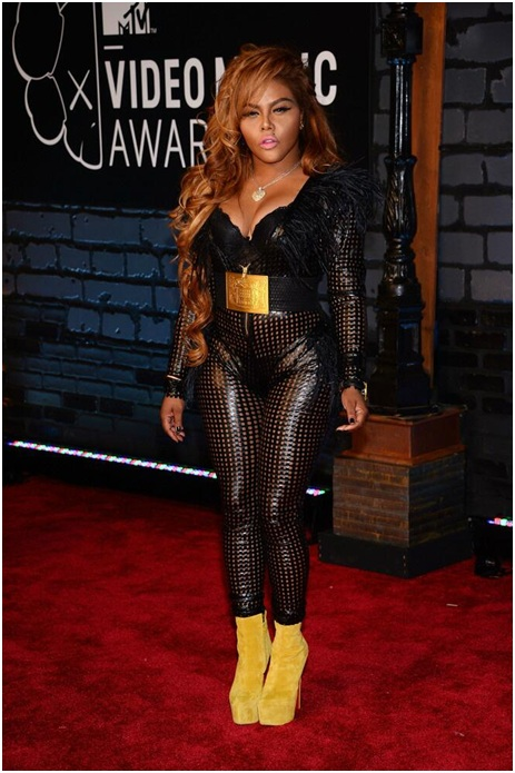 Lil' Kim and her Leather Catsuit-Embarrassing Red Carpet Flops