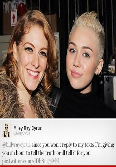 Miley Threatens Her Dad Billy Ray-15 Images That Show Miley Cyrus Has Become Trashy
