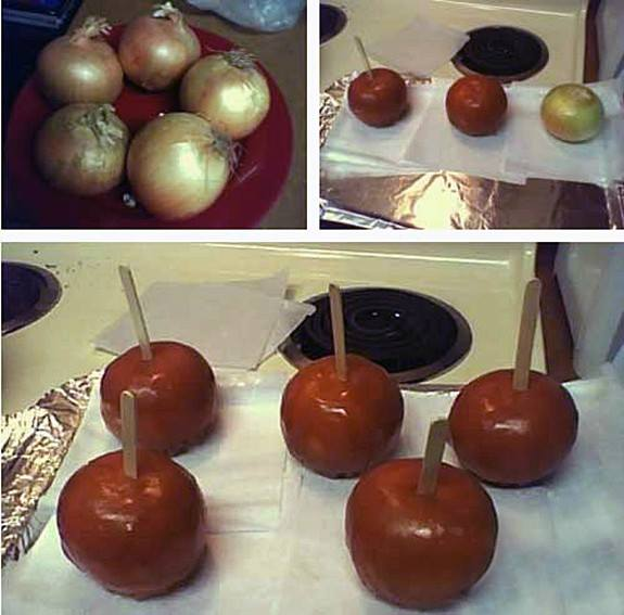 Cover Onions In Caramel.-Best Pranks For April Fool's Day