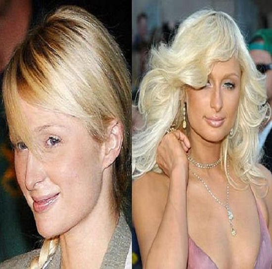 Paris Hilton-15 Celebrities With And Without Makeup