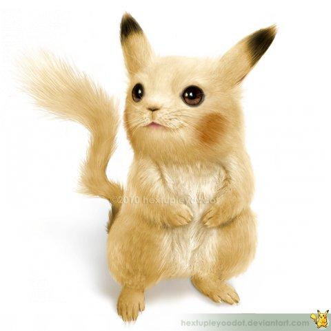Real Pikachu-Realistic Drawings Of Cartoon Characters