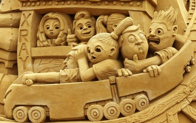 Roller Coaster Ride-15 Most Bizarre Sand Art Sculptures Ever Created