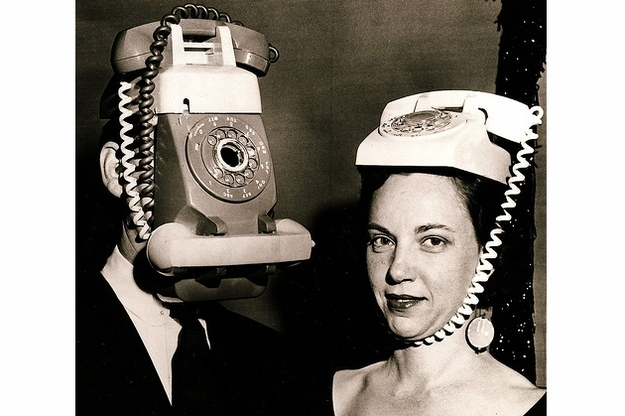 Old Telephones head costume-Creepiest Halloween Costumes