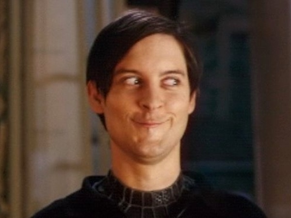 Peter Parker (Spiderman) Funny Face-15 Stupidest Faces Our Favorite Celebrities Make