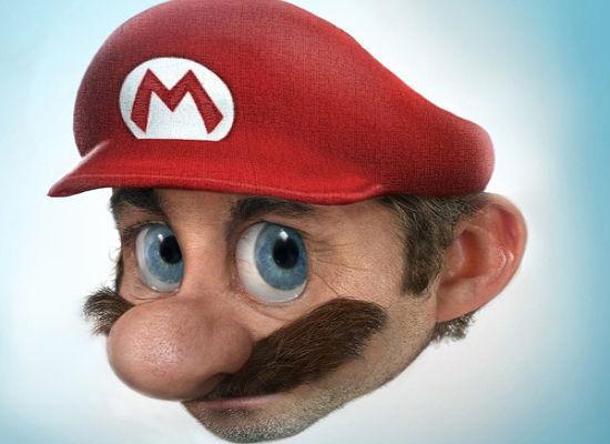 Super-mario-Realistic Drawings Of Cartoon Characters