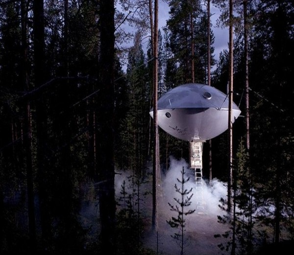 The UFO tree house-15 Amazing Tree Houses Ever