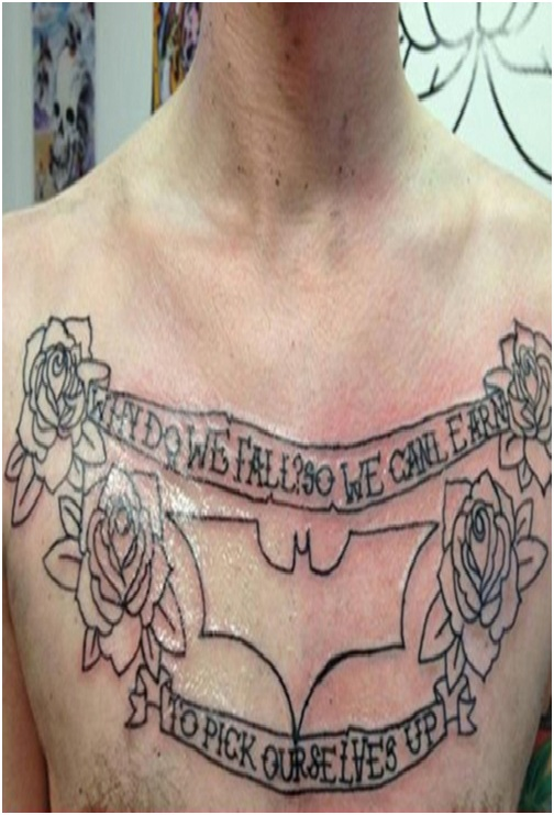 Why Do We Fall Tattoo-Top 15 Worst Chest Tattoos Ever