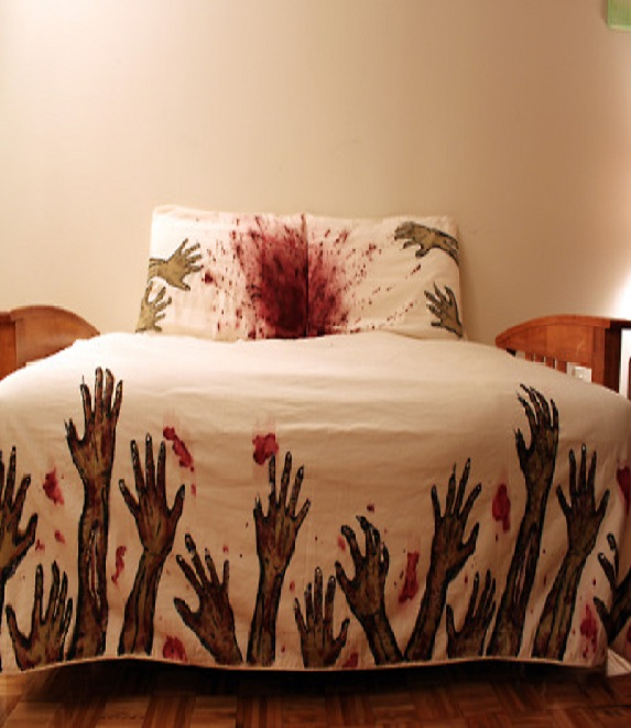 Zombie bed sheet-15 Most Insane Bed Sheets That Will Make You Say WTF!